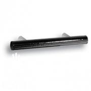 7524.0128.021.081 Ручка рейлинг, черная глянцевая кожа 128 мм