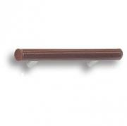 7524.0128.021.176 Ручка рейлинг, коричневая кожа 128 мм