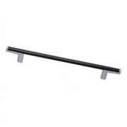Ручка-скоба 160мм, отделка хром матовый лакированный + венге 8.1121.0160.42-1894