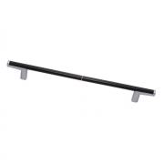 Ручка-скоба 448мм, отделка хром матовый лакированный + венге 8.1121.0448.42-1894