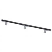 Ручка-скоба 800мм, отделка хром матовый лакированный + венге 8.1121.0800.42-1894
