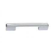 Ручка-скоба 128-096мм, отделка хром глянец + белый глянец 8.1092.128096.40-70