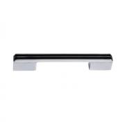 Ручка-скоба 128-096мм, отделка хром глянец + чёрный глянец 8.1092.128096.40-53