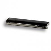 7693.0168.071.081 Ручка скоба, черная глянцевая кожа 64 мм