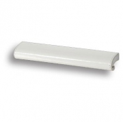 7693.0168.071.082 Ручка скоба, белая глянцевая кожа 64 мм