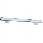 Ручка-скоба 192-160мм, отделка хром глянец + вставка 8.1123.192160.40-109
