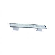 Ручка-скоба 128-096мм, отделка хром глянец + вставка 8.1123.128096.40-109