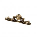 Ручка-скоба 64мм, отделка бронза античная французская 25.692.0064.25