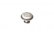 P77.Y00.S2.ME8G Ручка-кнопка, отделка старое серебро с блеском + керамика