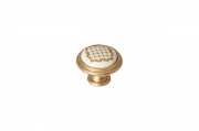 """P77.Y01.S1.MR8G Ручка-кнопка, отделка золото матовое """"Милан"""" + керамика"""