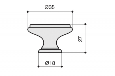 "P77.Y01.G4.MD1G Ручка-кнопка, отделка бронза античная ""Флоренция"" + керамика"