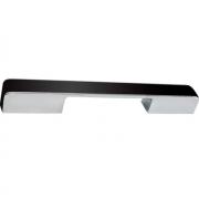 Ручка-скоба 160-224мм, отделка хром глянец + чёрный пластик 217.579-2011/9603