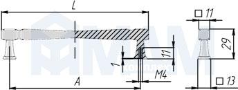 WMN.775.128.00T2 Ручка-скоба 128мм железо черное