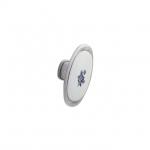 Ручка-кнопка, отделка серебро старое + вставка 24077.M62P.605.14M