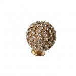 Ручка-кнопка, отделка золото глянец + горный хрусталь PS.01.XE.06