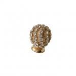 Ручка-кнопка, отделка золото глянец + горный хрусталь PS.01.XA.06