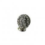 Ручка-кнопка, отделка никель глянец + горный хрусталь PS.01.XA.22