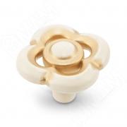 WPO.792.036.00V5 Ручка-кнопка cлоновая кость/золото винтаж