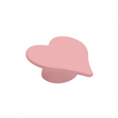 Ручка-кнопка 32 мм, отделка розовая 0085RO153CV