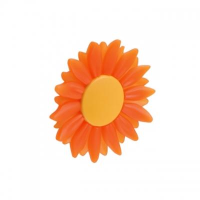 Ручка-кнопка 16/32 мм, отделка оранжевая 1073ARTRGL102C1