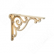 WRM.800.150.00T5 ROME Менсолодержатель для деревянных полок L-150 мм, cлоновая кость/золото винтаж