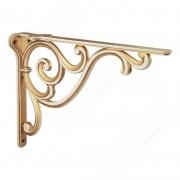 WRM.800.250.00T5 ROME Менсолодержатель для деревянных полок L-250 мм, cлоновая кость/золото винтаж