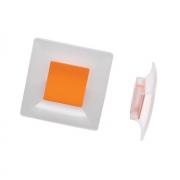 Ручка-кнопка 32мм, отделка транспарент матовый + оранжевый 8.1100.0032.94-0507
