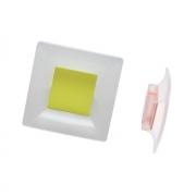 Ручка-кнопка 32мм, отделка транспарент матовый + оливковый 8.1100.0032.94-0518