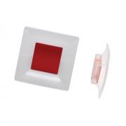 Ручка-кнопка 32мм, отделка транспарент матовый + бордовый 8.1100.0032.94-0519