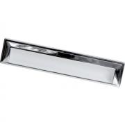 Ручка врезная 192мм, отделка белый глянец + хром глянец 8.1005.0192.70-40