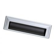 Ручка врезная 128мм, отделка титан + хром матовый лакированный 8.1005.0128.0505-42