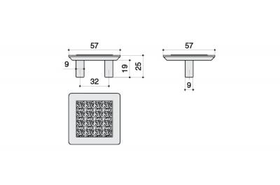 MC 8.1046.0032.30 Ручка-скоба 32мм, никель матовый