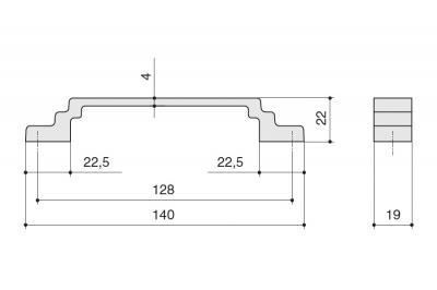 8.1145.0128.45 Ручка-скоба 128мм, отделка хром матовый