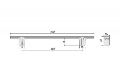8.1163.0160.30 Ручка-скоба 160мм, отделка никель матовый