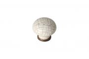"818.CV/CRa.def Ручка-кнопка, отделка бронза античная + керамика ""паутинка"""