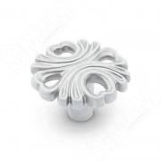 WPO.829.000.00V4 Ручка-кнопка белый/серебро винтаж