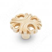 WPO.829.000.00V5 Ручка-кнопка cлоновая кость/золото винтаж