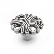 WPO.829.000.00E8 Ручка-кнопка серебро состаренное