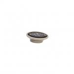 Ручка-кнопка, отделка серебро старое + керамика P18.19.174.15