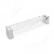 BH.83.160.CRCL Ручка-скоба 160мм хром/пластик прозрачный