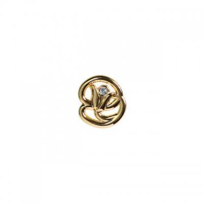 Ручка-кнопка, отделка золото глянец + горный хрусталь WPO.672Y.000.MKRGP