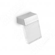 KH.85.000.CRCL Ручка-кнопка хром/пластик прозрачный
