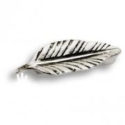 854.64.27 Ручка скоба в форме лепестка цвет — глянцевое серебро 64 мм