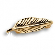 854.64.28 Ручка скоба в форме лепестка цвет — античное золото 64 мм
