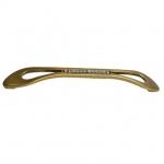 Ручка-скоба 160мм, отделка бронза античная французская + горный хрусталь 8.1125.0160.25