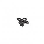 Ручка-кнопка, отделка никель глянец воронёный + горный хрусталь 25.704.B000.32