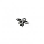 Ручка-кнопка, отделка серебро античное + горный хрусталь 25.704.B000.17