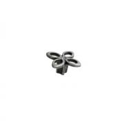 25.704.B000.17 Ручка-кнопка, отделка серебро античное + горный хрусталь