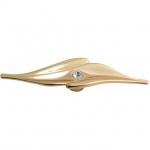 Ручка-кнопка, отделка золото глянец + горный хрусталь 15259Z17000.15