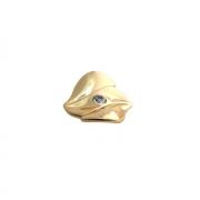 Ручка-кнопка, отделка золото глянец + горный хрусталь 24259Z06000.15